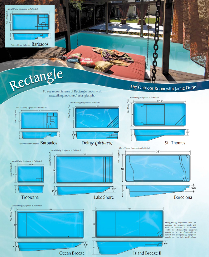 Lake havasu pool builders montgomery pools fibreglass for Small swimming pool sizes and shapes